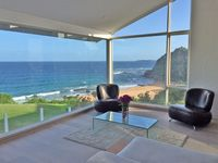 Living area view over beach