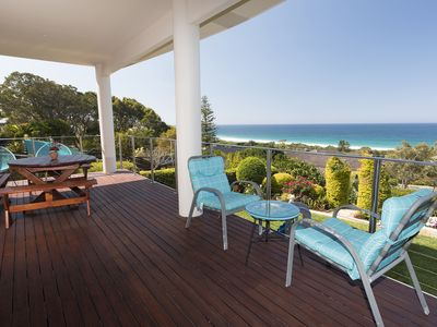 Enjoy the view from the large covered verandah