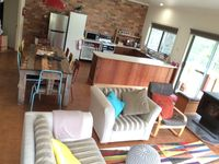 Open lounge, kitchen and dining room