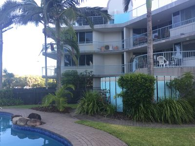 Apartment with pool opposite patrolled beach
