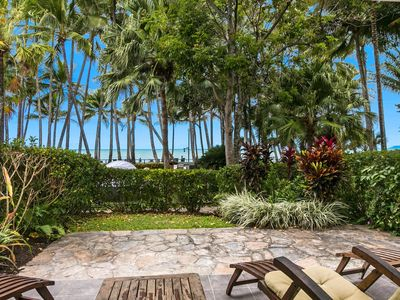 Direct access to beach and pool from patio.