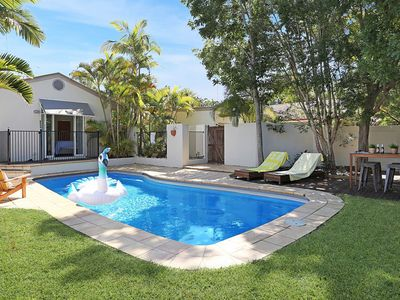 Imagine the whole family enjoying the spacious pool area