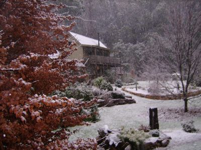 Shadybrook Cottage covered by the first snow
