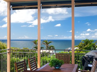 Awesome ocean view from furnished deck