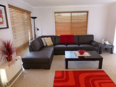 Main Lounge room spacious and relaxing at Ocean Grove Holiday House