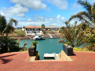 Back patio overlooking Wallaroo Marina