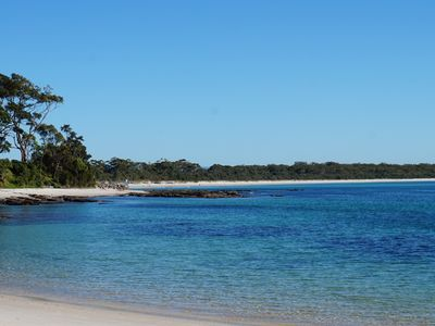 Location Shot - Sharknet Beach Huskisson.