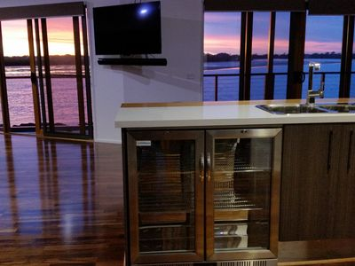 Stunning views and beautiful sunsets from most rooms in the house