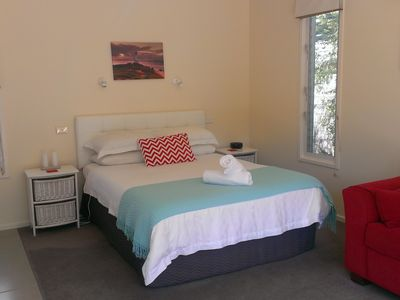 Queen size bed with soft top mattress