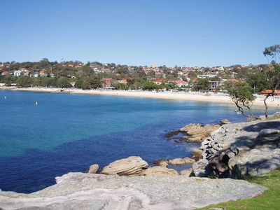 Balmoral Beach - looking west from the island at the end of the street.