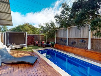 North facing solar heated and private pool