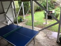 Table tennis under the upper deck