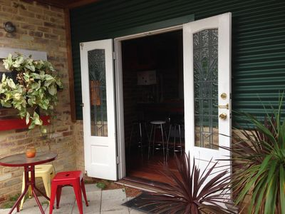 French doors that open onto your own garden sitting area