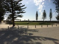 Close to play ground and picnic area with a walking path skirting the oceans edg