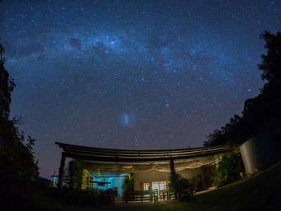 Night sky above your accommodation