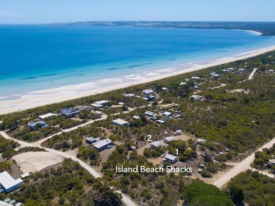 The Island Beach Shacks are located just a short stroll to stunning Island Beach