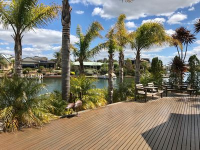 Excellent entertaining area with private jetty