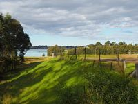 View to the inlet and of the tennis court