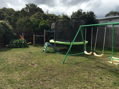 Back yard, kids play equipment