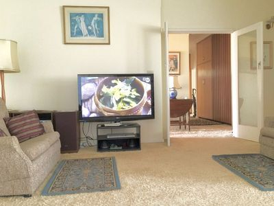 Lounge family room with TV and DVDs, children's board games available