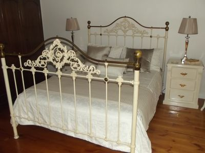 Beautiful Antique Bed with Gorgeous Top Quality Linen for Your Comfort