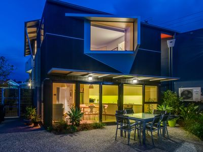 Secure courtyard with space to park your car, BBQ, seating for 6