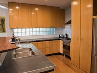 Kitchen. Timber cabinetry. Timber floors. Stainless Steel Appliances.