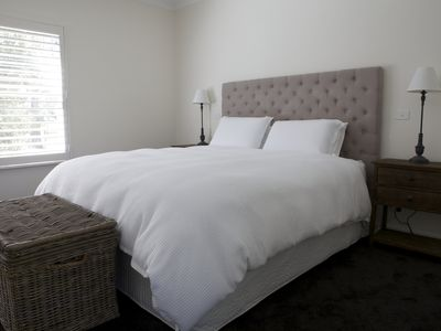 Lovely comfortable king beds and a bathroom in each bedroom.