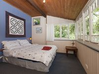 White Gum Cottage - main bedroom with views to forest