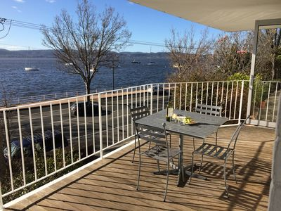 Deck overlooking the Derwent River