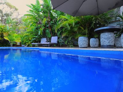 Magnificent pool and tropical garden