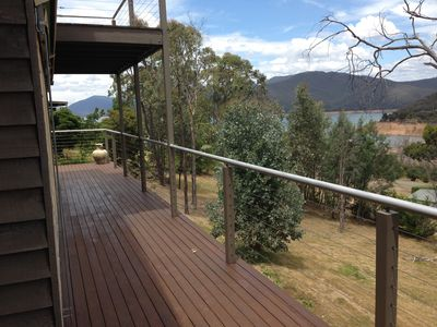 Lake views from upper and lower decks