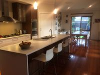 Open plan kitchen, meals and family area