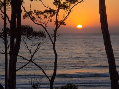 Sunrise as seen from Denhams Beach Retreat