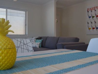 Open plan living/dining area - air-conditioned