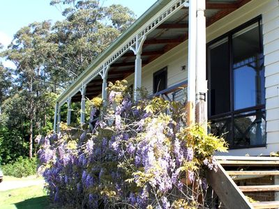 Wisteria Cottage has a tremendous view of the Shoalhaven flood plain