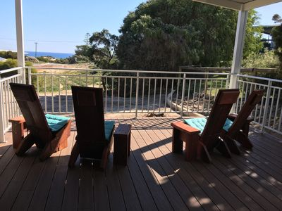 Outdoor Decking Area with Ocean View