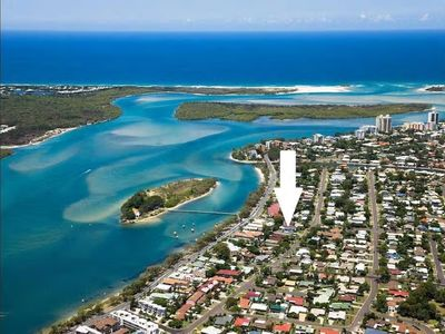 Aerial shot of Maroochy river