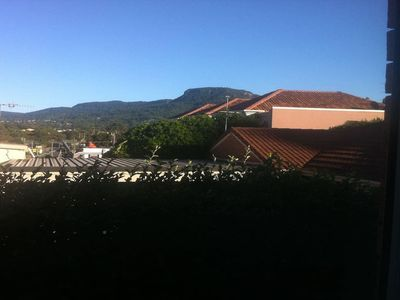 View from Kitchen Window of Mount Keira