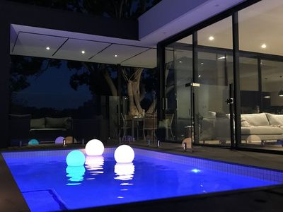 Solor heated pool