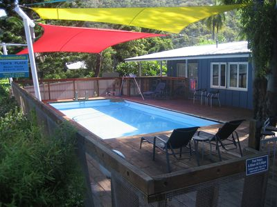 Tom's Place shared swimming pool