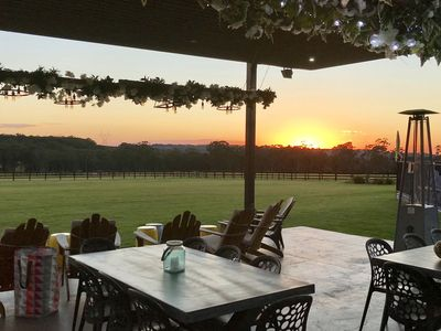 Outdoor entertaining sunrise