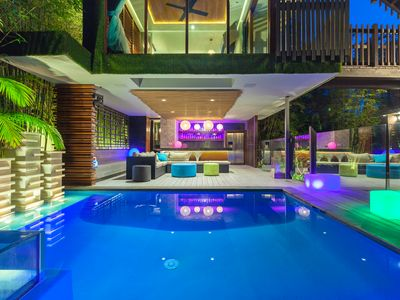 Pool and outdoor area night lighting