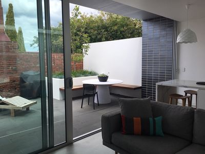 Living Area opening into courtyard