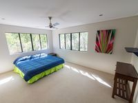 Large bedrooms which take in leafy surrounds