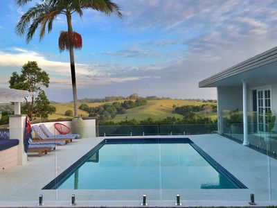 9x4 saltwater pool with stunning Hinterland views.