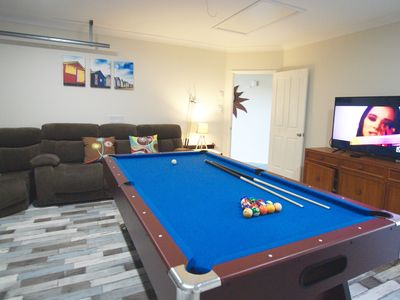 Pool Table, Arcade Games and Foxtel Games Room