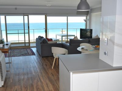 Great ocean views inside and on the balcony