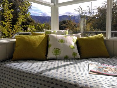 Daybed soaks up the winter sun