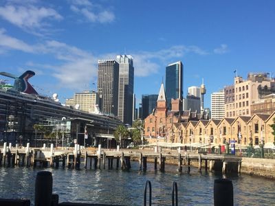 Circular Quay.... 5 mins stroll down our historic tree lined street